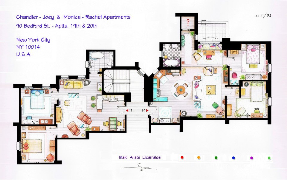 Friends Apartment Floor Plans