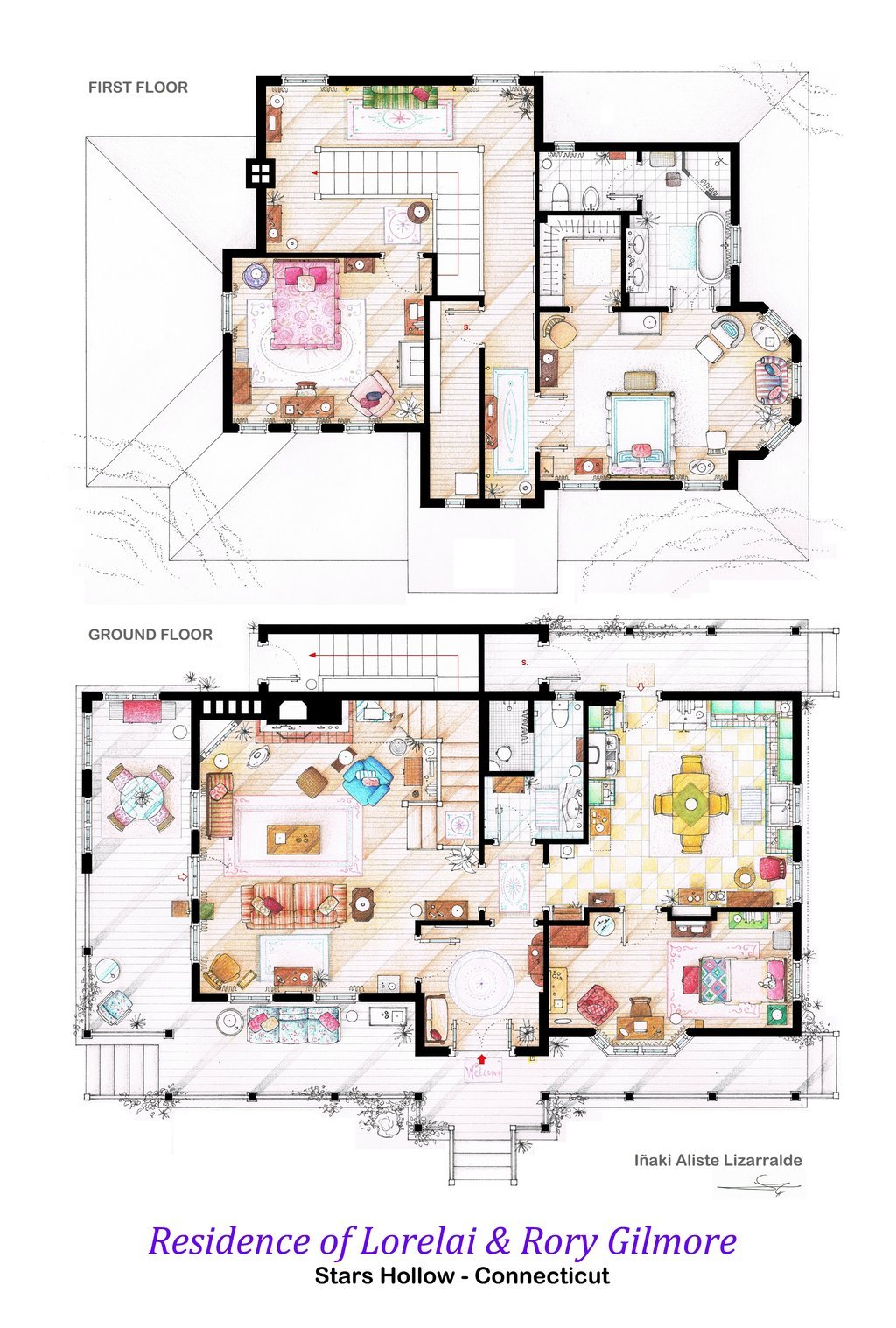 Gilmore Girls Apartment Floor Plan