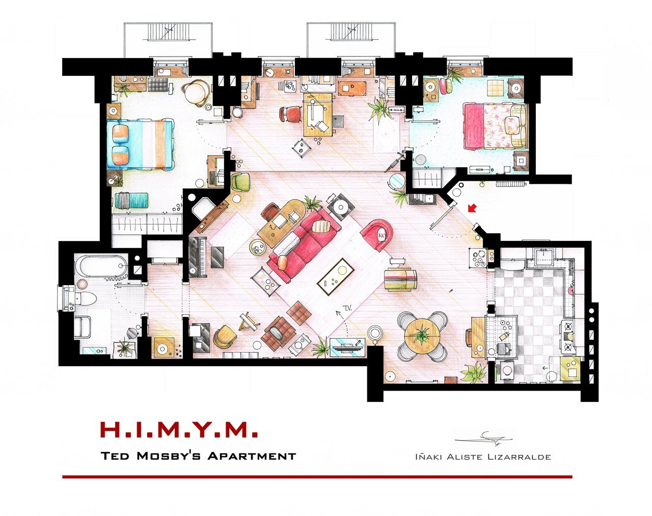How I Met Your Mother Apartment Floor Plan