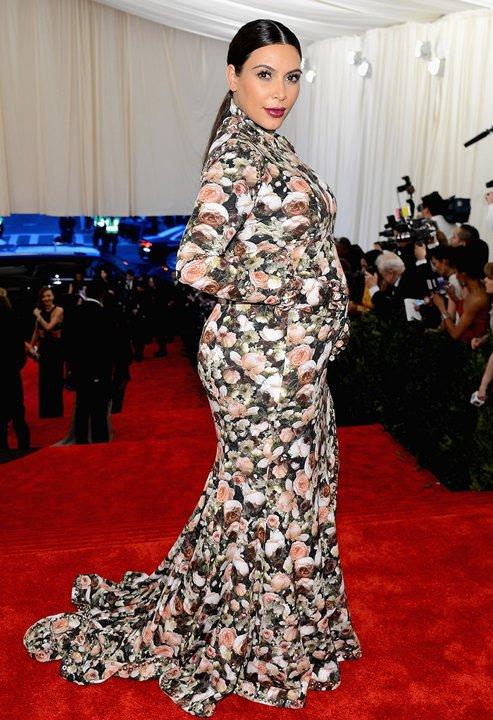 Kim Kardashian Floral Gown