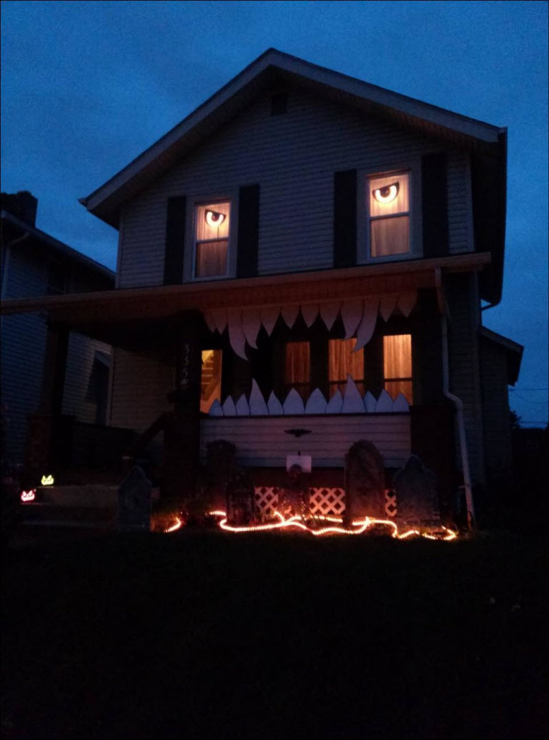 Monster House Halloween Decor