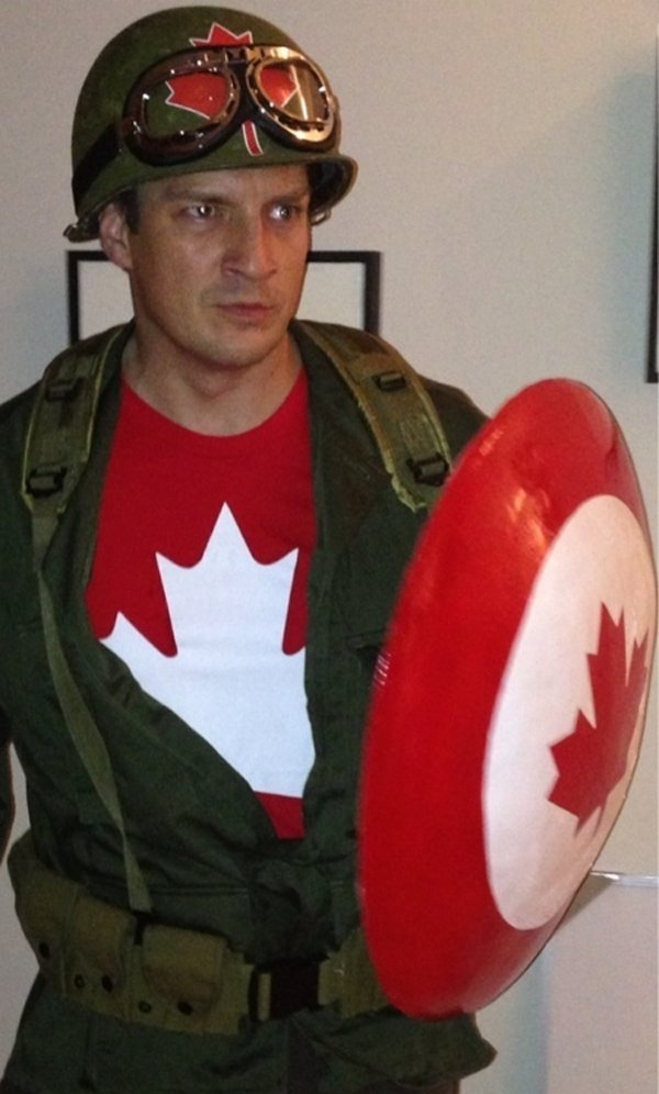 Nathan Fillion as Captain Canada