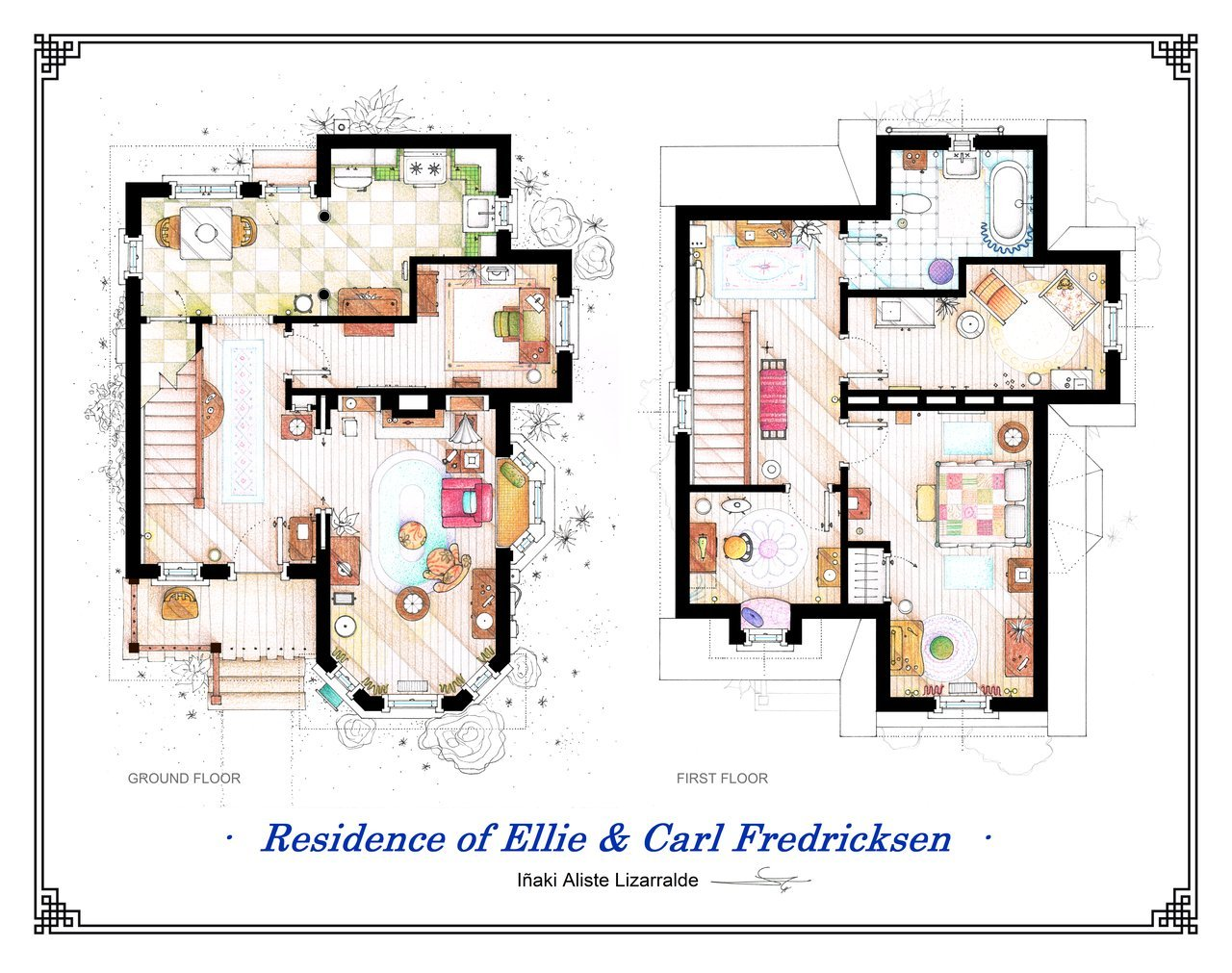 Pixar Up Apartment Floor Plan