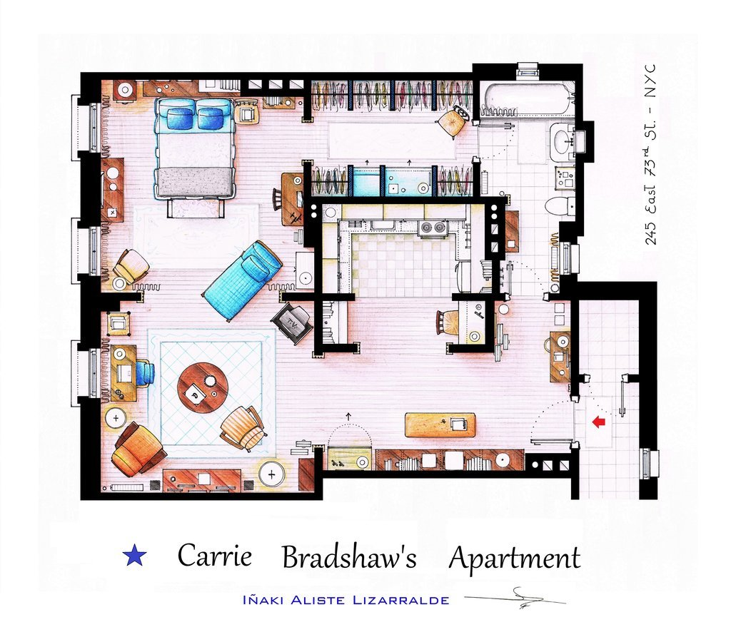 Sex And The City Apartment Floor Plan