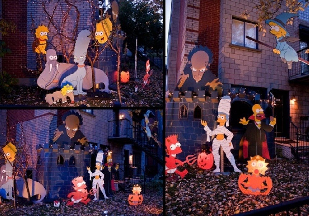 Simpsons Halloween Decor