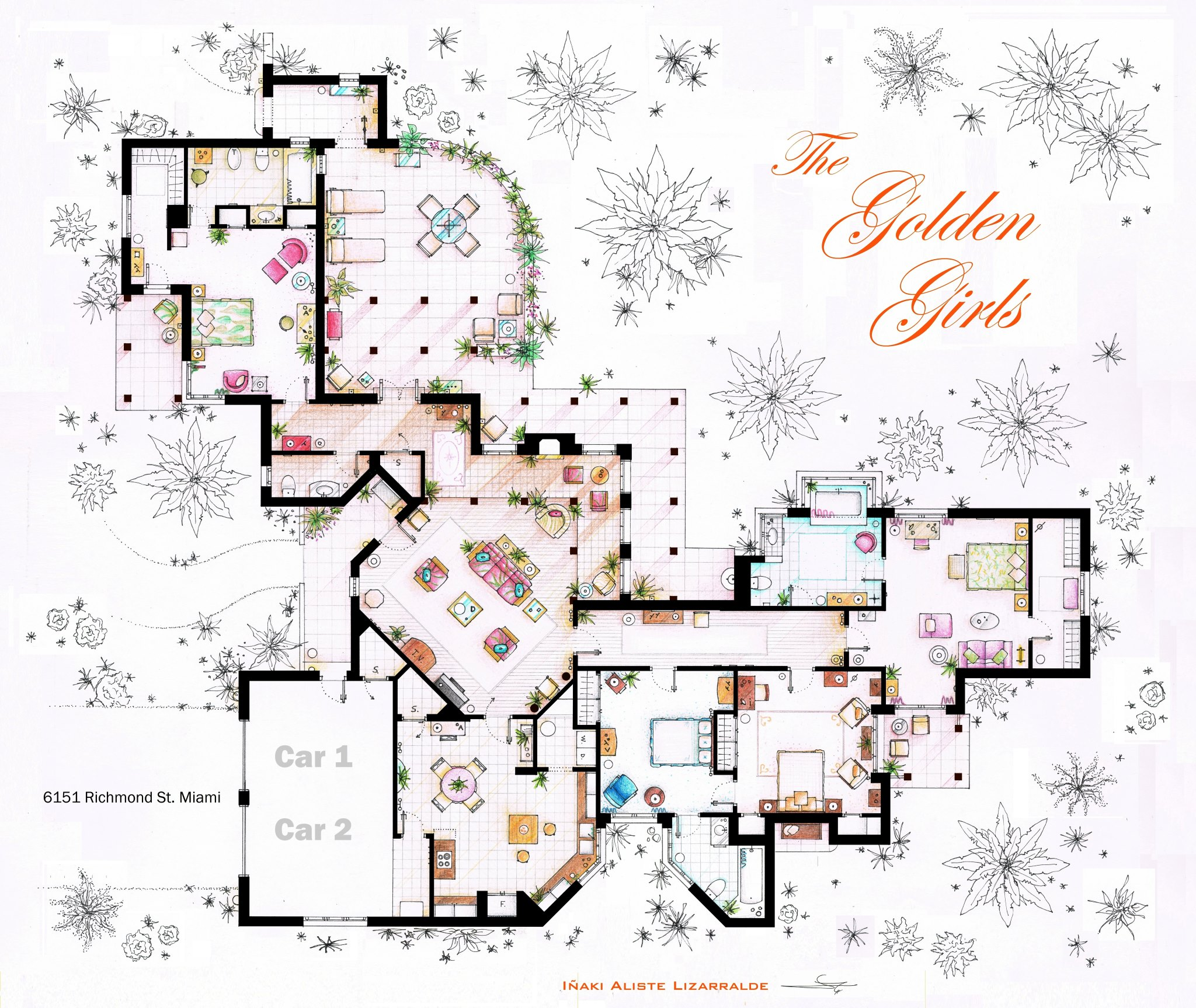 The Golden Girls Apartment Floor Plan