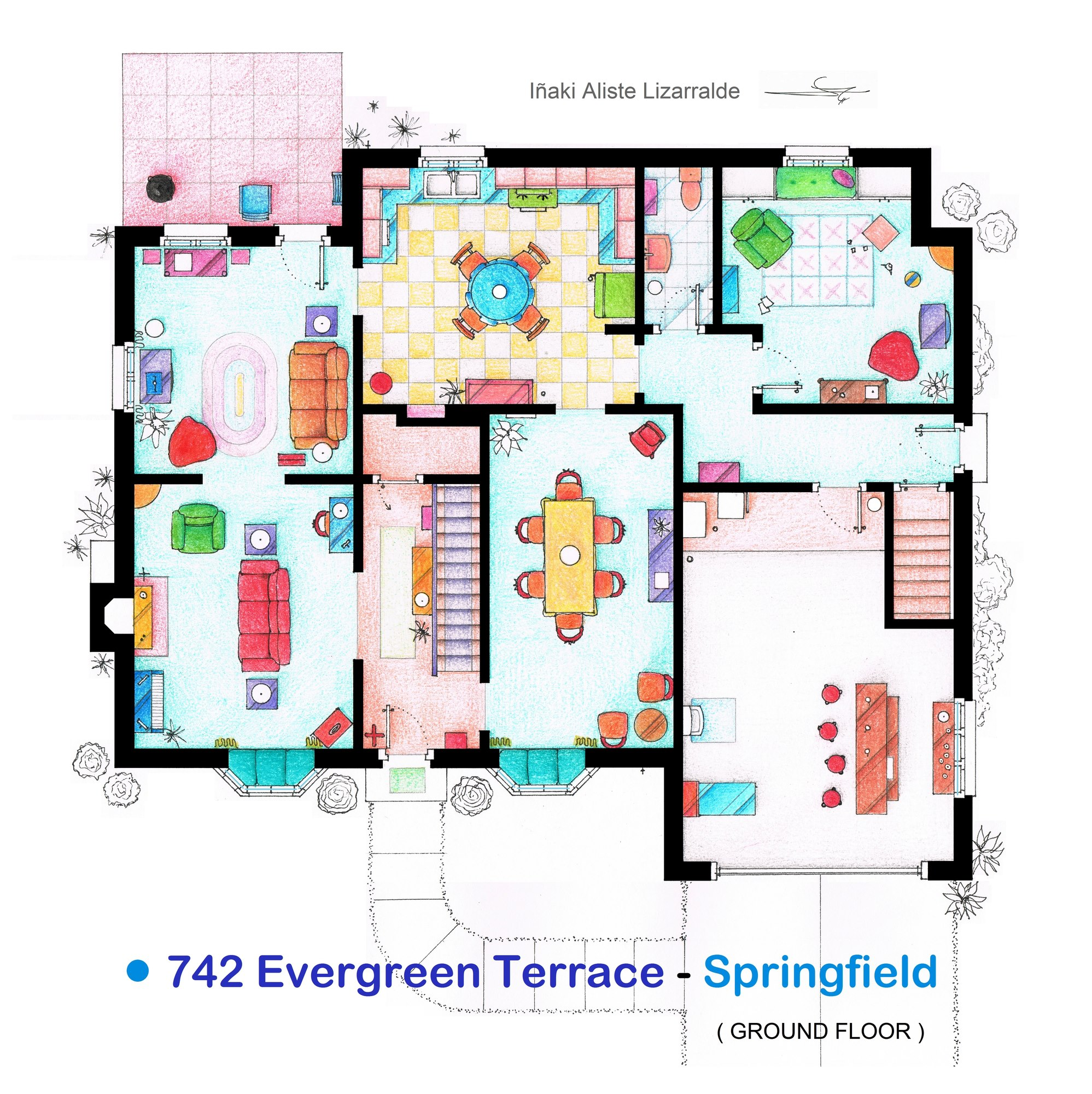 The Simpsons Apartment Floor Plan