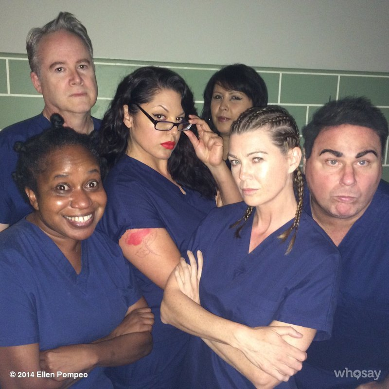 The cast of Grey's Anatomy as the cast of Orange is the New Black