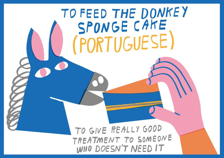 To feed the donkey sponge cake