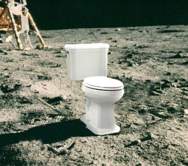 Toilet on Moon