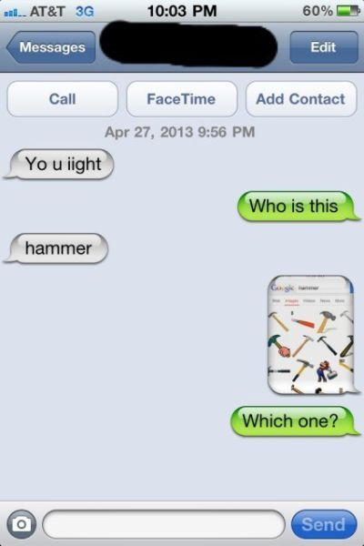 Wrong Number Texts (12)