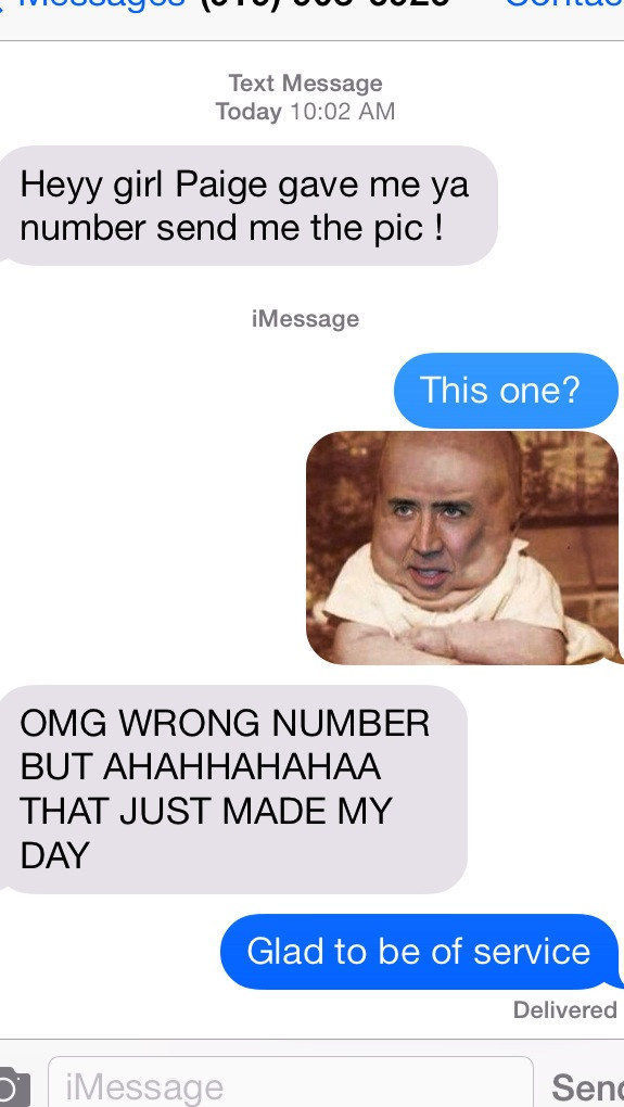 Wrong Number Texts (18)