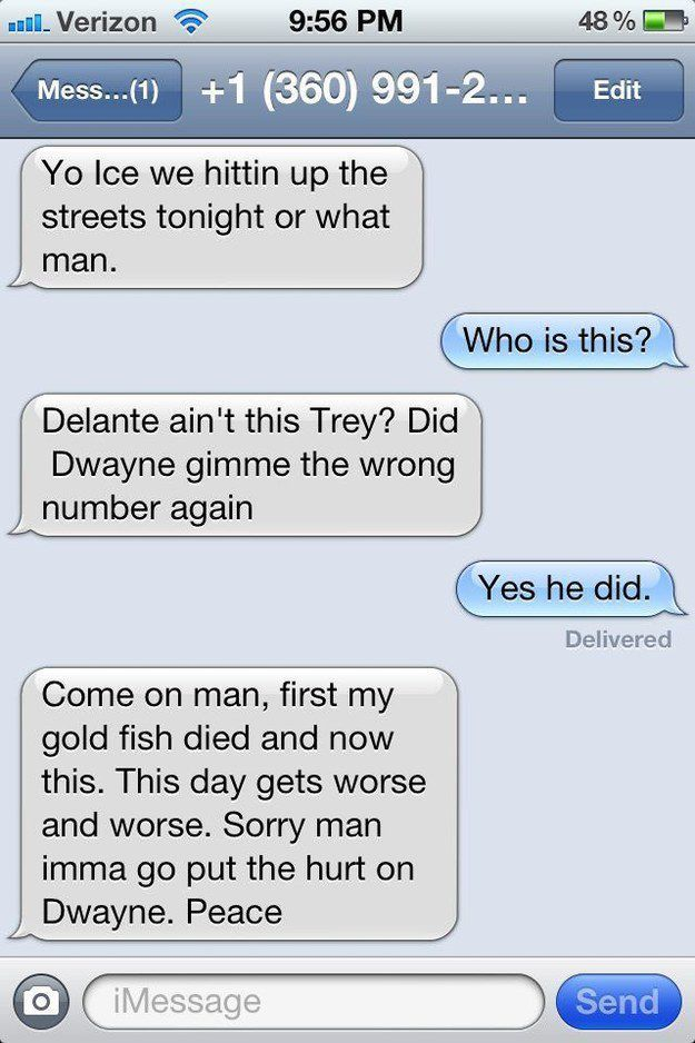 Wrong Number Texts (20)