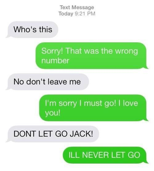 Wrong Number Texts (24)