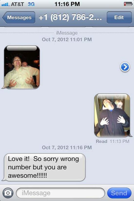 Wrong Number Texts (3)