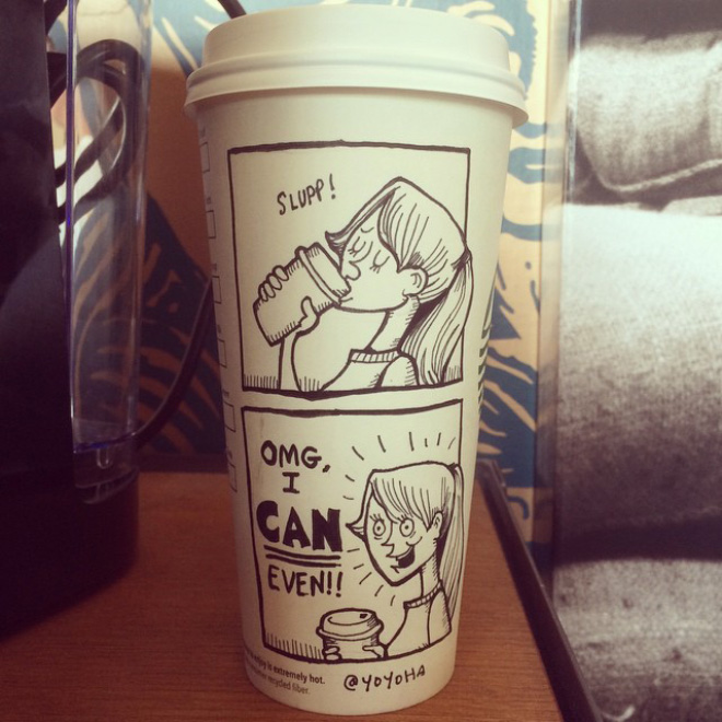 Coffee Cup Cartoon 13