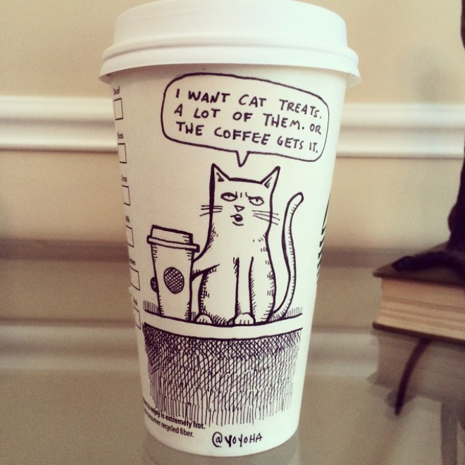 Coffee Cup Cartoon 2