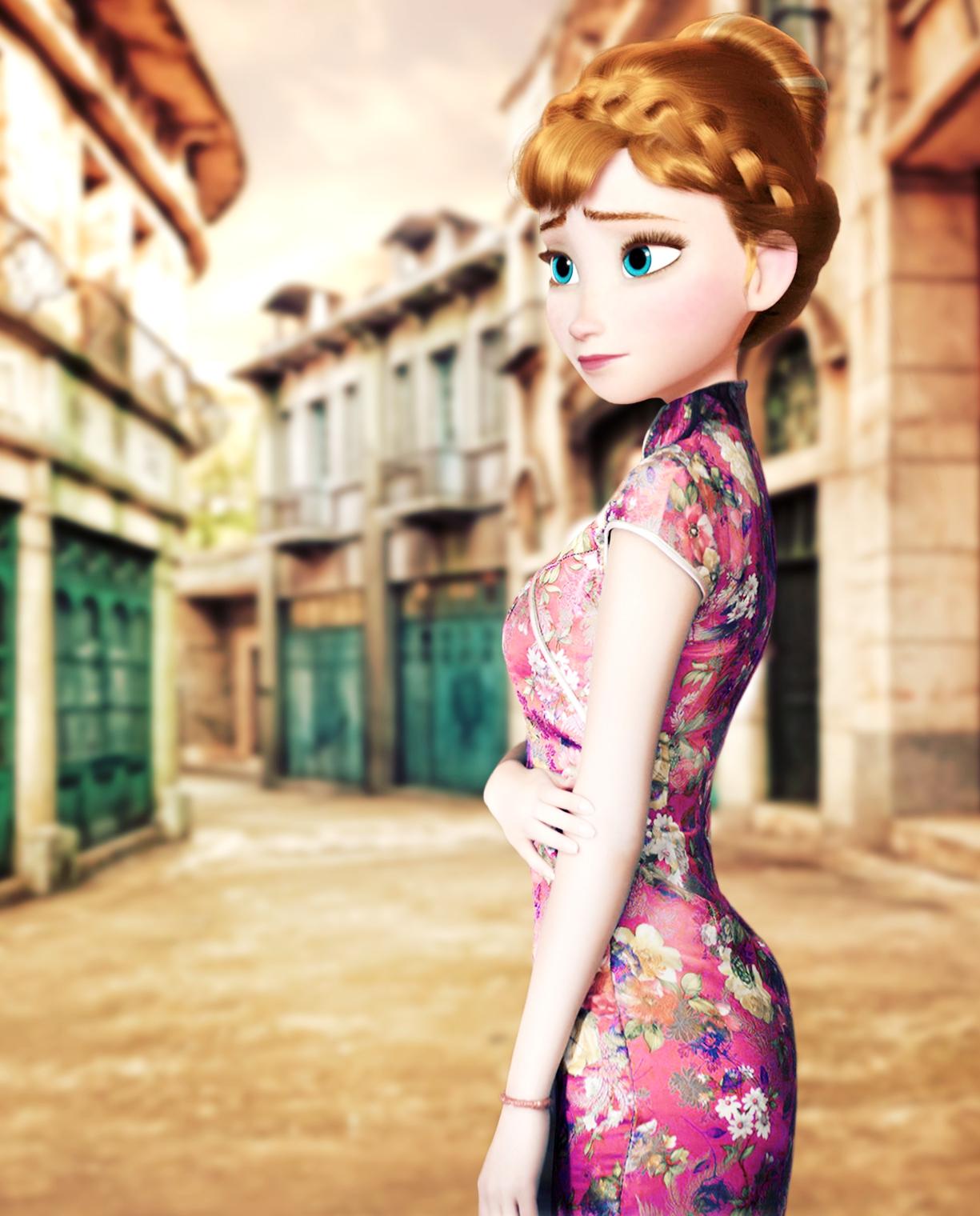 Frozen Anna In Qipao