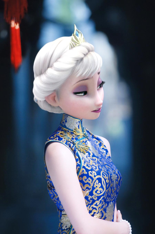 Frozen Elsa In Chinese Dress