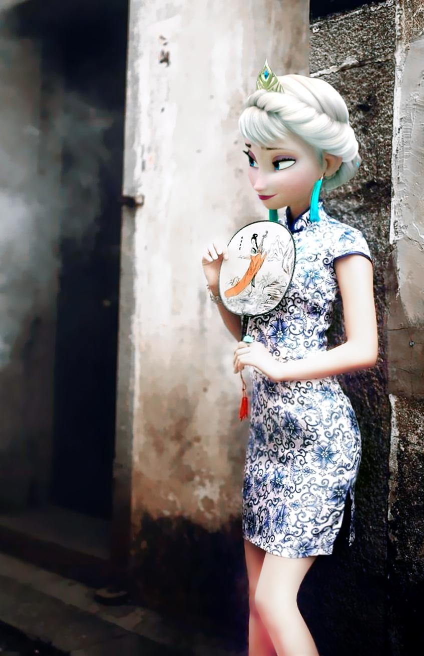 Frozen Elsa In Qipao