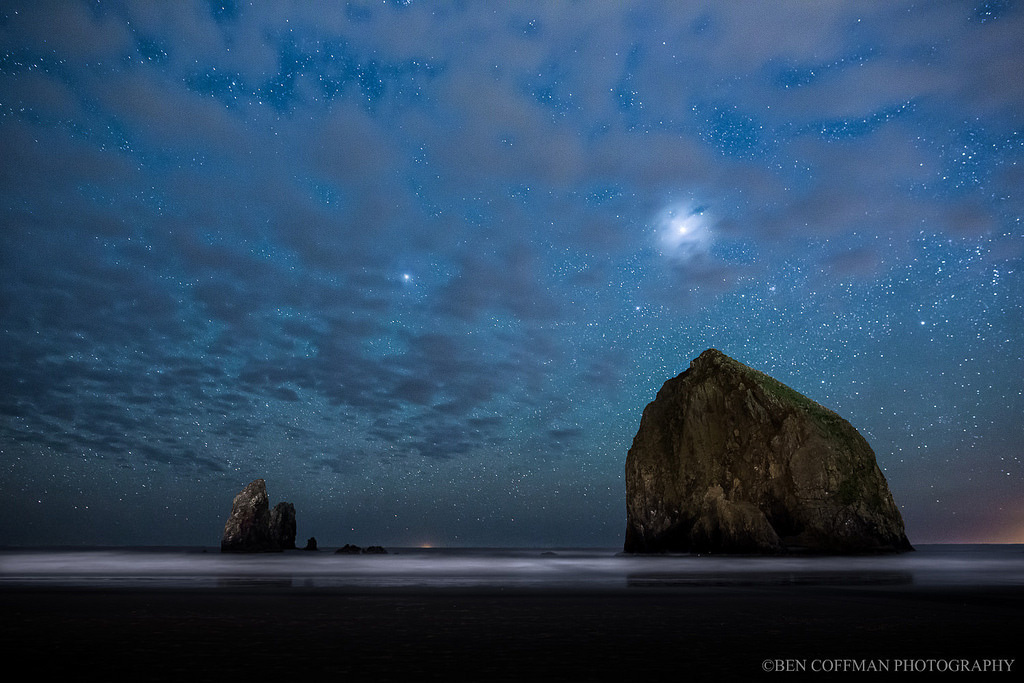 Haystack Rock at Cannon Bech