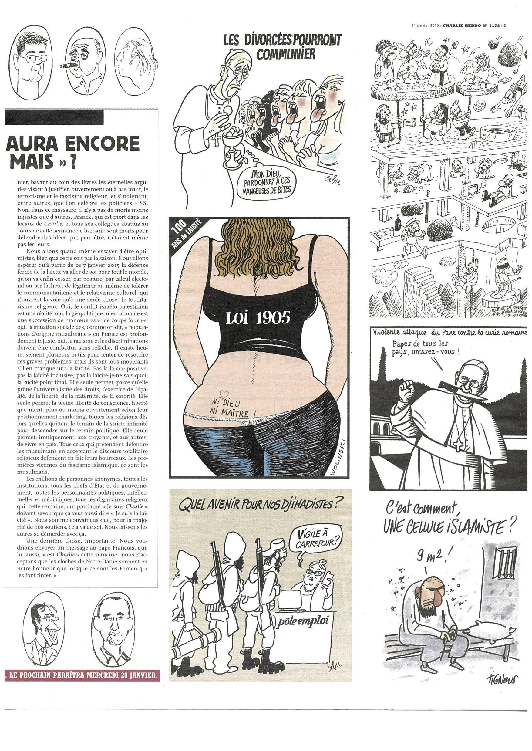 Charlie Hebdo #1178 Page 3