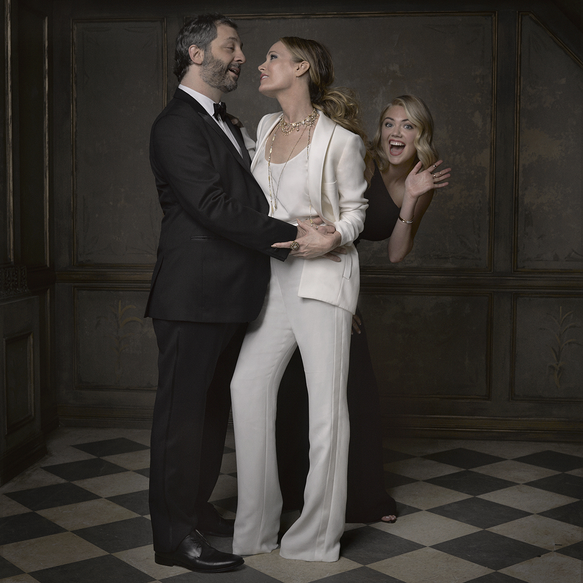 Judd Apatow, Leslie Mann and Kate Upton