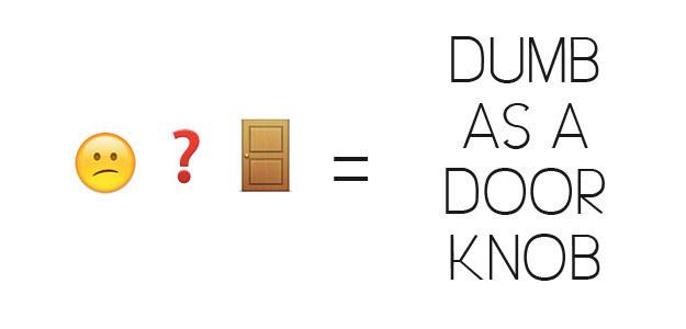 Dumb As A Door Knob Emoji