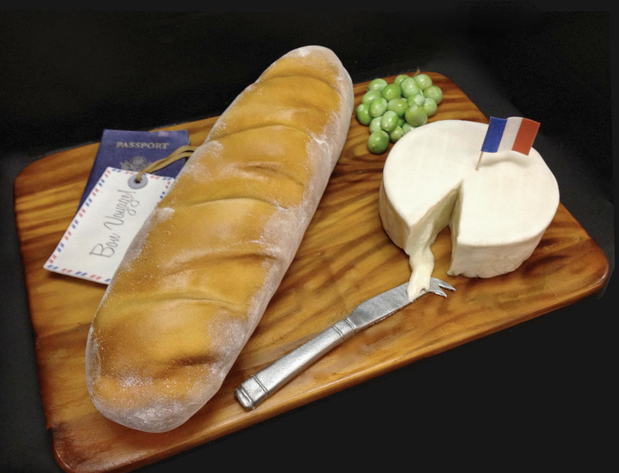 French Bread And Brie Cake