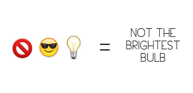 Not The Brightest Bulb Emoji