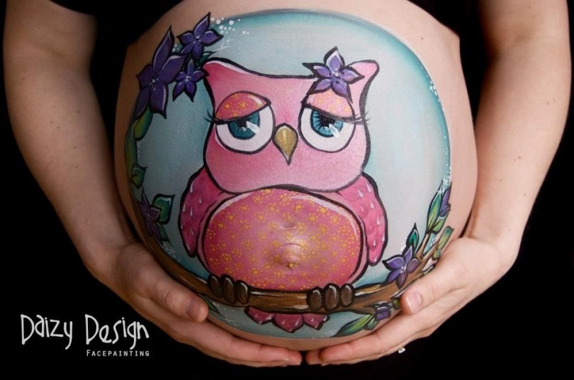 Pregnant Belly Painting 10
