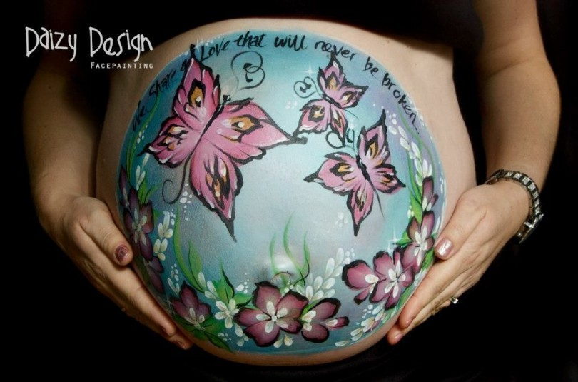 Pregnant Belly Painting 6