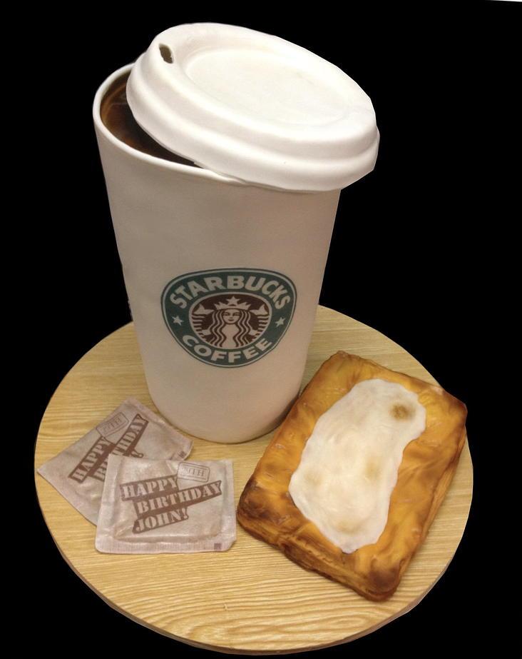 Starbucks And Cheese Danish Cake