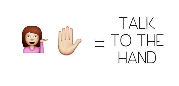 Talk To The Hand Emoji