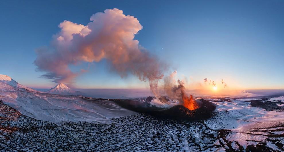 Volcano Plosky Tolbachik, Kamchatka, Russia