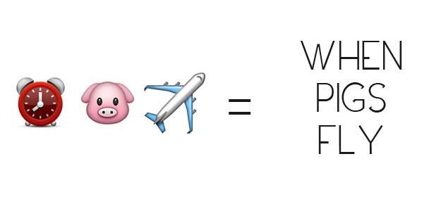When Pigs Fly Emoji