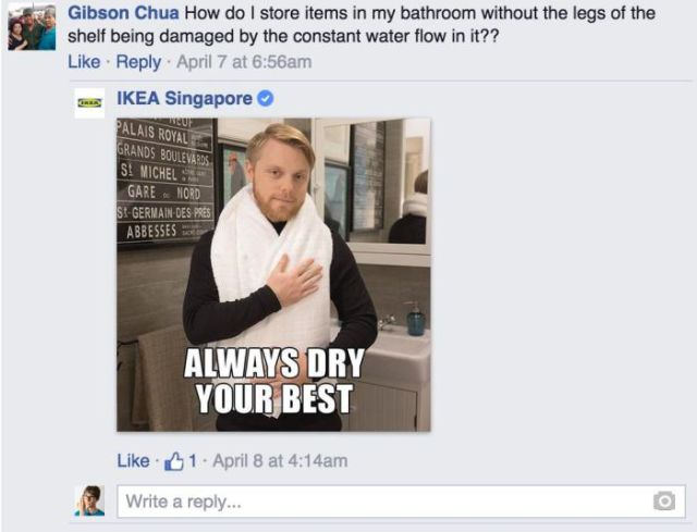IKEA Facebook Reply 2