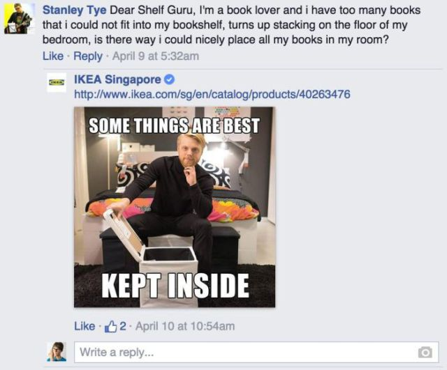 IKEA Facebook Reply 6