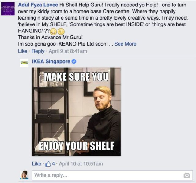 IKEA Facebook Reply 7