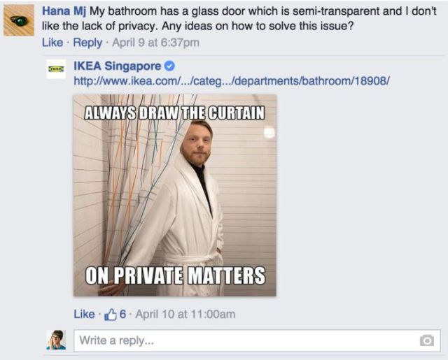 IKEA Facebook Reply 9