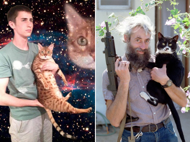 Man And Cat 12