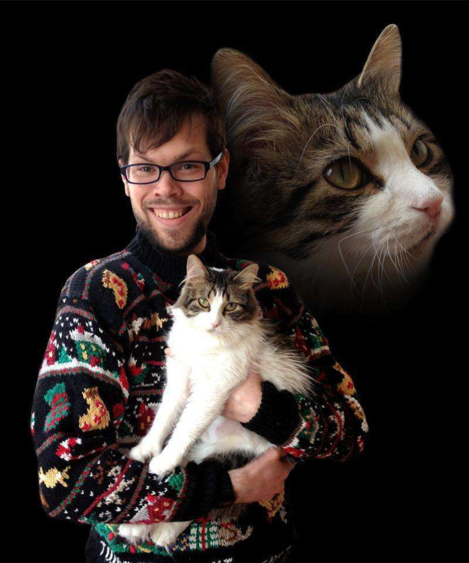 Man And Cat 13
