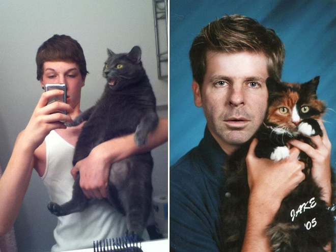 Man And Cat 17