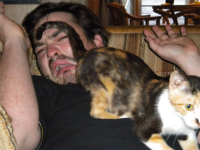 Man And Cat 7
