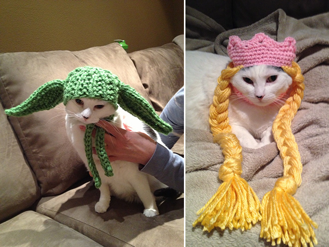 Crocheted Pet Hat 18