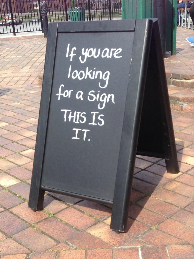 Chalkboard Sign 18