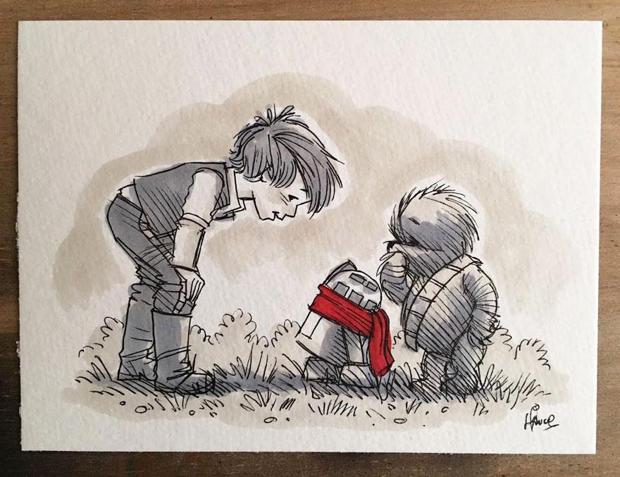 Star Wars Winnie the Pooh Art 12