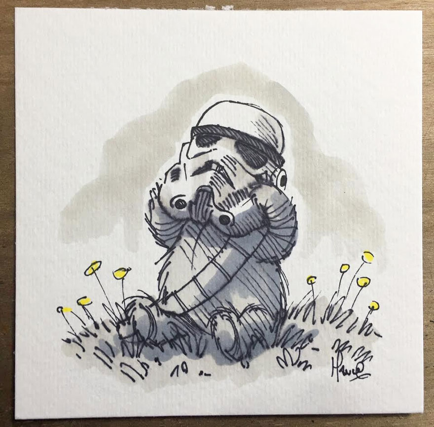 Star Wars Winnie the Pooh Art 14