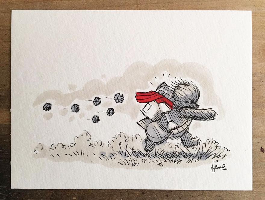 Star Wars Winnie the Pooh Art 3