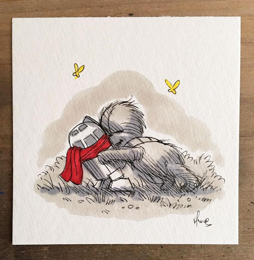 Star Wars Winnie the Pooh Art 4
